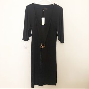 *NWT* Roberto Cavalli Black Dress w/ Cape Sleeves